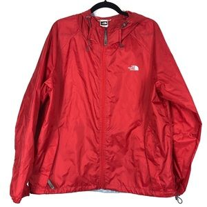 THE NORTH FACE red zip up rain jacket size XL V11